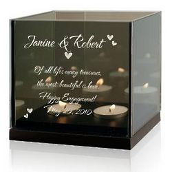 Engagement Double Tealight Candle Holder