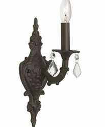 Mocha One Arm Scroll Wall Sconce
