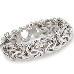 Italian Byzantine Bracelet in Sterling Silver