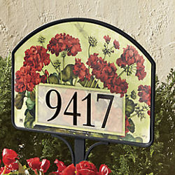Geranium Basket Yard Sign