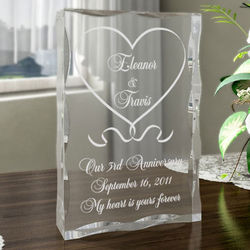 Personalized One Love, One Heart Plaque