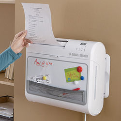 Crosscut Paper Shredder and Message Center Combo