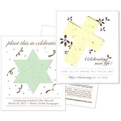 Personalized Religious Seed Card Favor