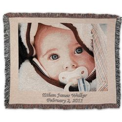Customized Photo Natural Border Blanket