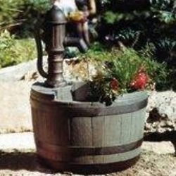 Whiskey Barrel Fountain