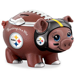 Banking On a Win Pittsburgh Steelers Piggy Bank
