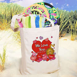 No Lion Personalized Canvas Tote Bag