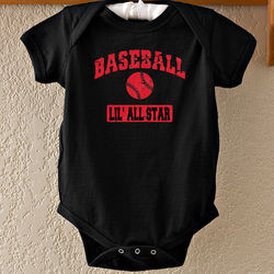 Sports Personalized Baby Bodysuit