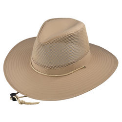 Medium Khaki Aussie Crushable Hat