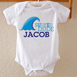 Surfer Dude Personalized Baby Bodysuit