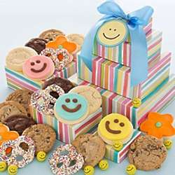 Happy Face Cookies Gift Tower