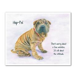 Sweet Shar-pei Personalized Art Print