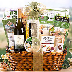 Windwhistle Chardonnay Wine and Snacks Gift Basket