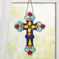 Stained Glass Cross Hanging