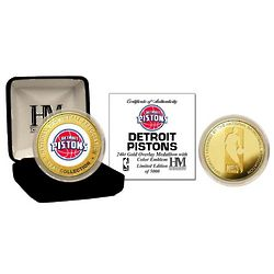 Detroit Pistons Gold and Color Mint Coin