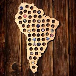 South America Beer Cap Map