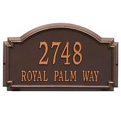 Personalized 2-Line Williamsburg Address Plaque