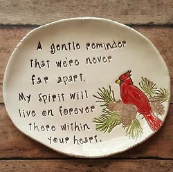 Visit From A Cardinal Keepsake Dish