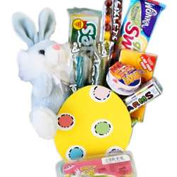Easter Egg and Bunny Candy Gift Basket