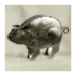 Cute Piggy Tin Sculpture