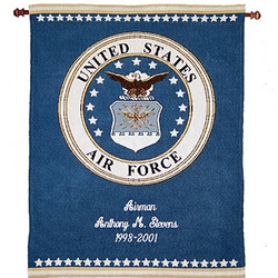 Personalized Air Force Tapestry Wall Hanging