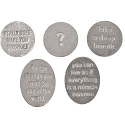 Inspirational Quotes Pewter Pocket Charms