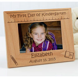 Personalized 1st Day of School Picture Frame