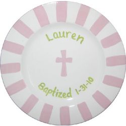 Personalized Girl's Baptism Plate