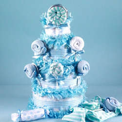 Baby Boy Lollipop Diaper Cake