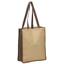 Personalized Tall Eco-Friendly Jute Bag