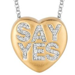 Say Yes Diamond Heart Necklace