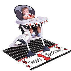 Ladybug Fancy High Chair Birthday Kit
