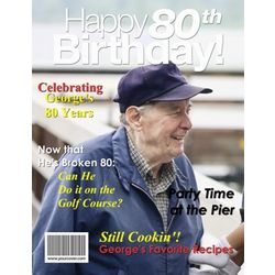 80th Birthday Personalized Magazine Cover