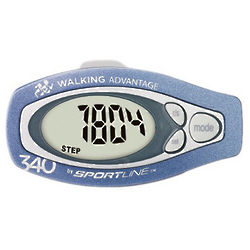 340 Step and Distance Pedometer with Classic Pendulum