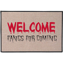 Fangs for Coming Halloween Doormat