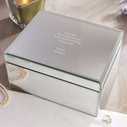 Personalized Large Mirrored Jewelry Box