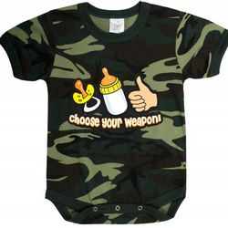 Baby Woodland Camo Choose Your Weapon Bodysuit