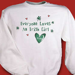 Everyone Loves Personalized Irish Sweatshirt