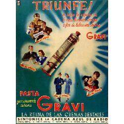 Triunfe! Pasta Gravi Vintage Cuban Ad Poster