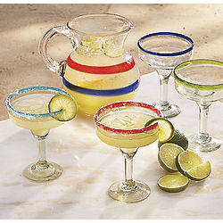 Reycled Glass Margarita Glasses