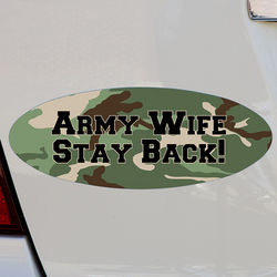 Camo Personalized Oval Bumper Magnet