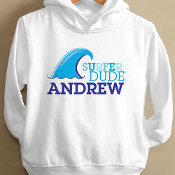 Surfer Dude Personalized Toddler Hooded Sweatshirt