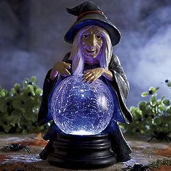 Solar Witch Halloween Figurine