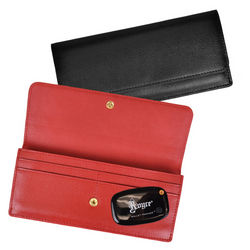 Women's Leather Freedom Wallet with GPS Tracker