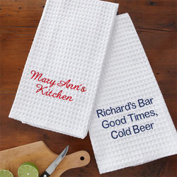 You Name It Embroidered Towel Set