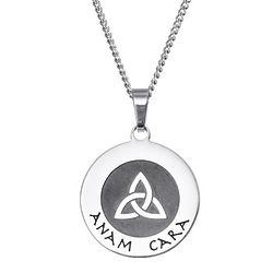 Engravable Anam Cara Soul Friend Pendant