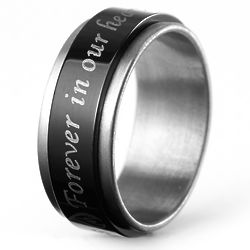 Personalized Forever In Our Hearts Bereavement Spinner Ring