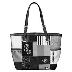 Chicago White Sox Patchwork Tote Bag with Team Logos