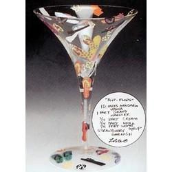 Flip Flops Martini Glass
