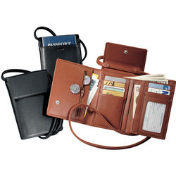 Deluxe Passport Case With Removable Neck and Shoulder Strap